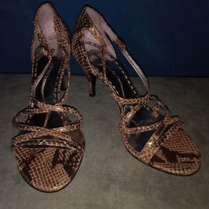 Gianni Bini Snakeskin Strappy High Heels Shoes